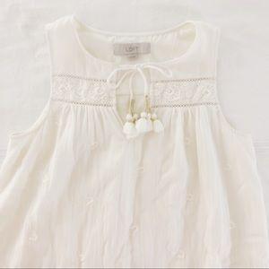 Ann Taylor LOFT White Dress